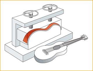 乐器合板热压成型用